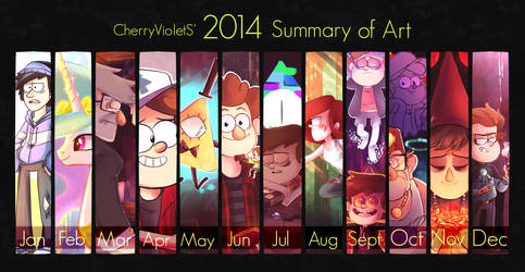 My 2014 Summary of Art by CherryVioletS