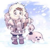 My Eskimo Friend by nikogeyer