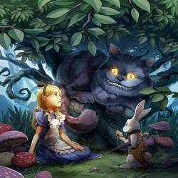Alice in Wonderland by nikogeyer