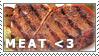 Meat Love Stamp by kittizak