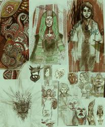 Random sketches 9 by shichinin-tai