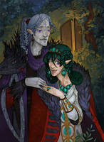 Eol and Aredhel by Arboriss