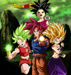 Goku Caulifla Kale and Kefla Wallpaper by daimaoha5a4