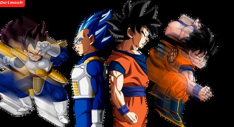 Goku and Vegeta eternal rivals by daimaoha5a4