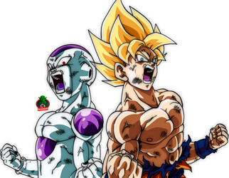Goku and Frieza Attack's Jiren by daimaoha5a4