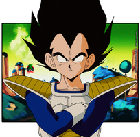 Vegeta Old Style Wallpaper by daimaoha5a4