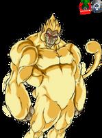 Golden Oozaru Goku by daimaoha5a4