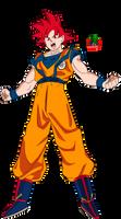 Goku ssj God New Movie Style by daimaoha5a4