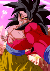 Goku ssj4 in Dragon Ball Gt style by daimaoha5a4