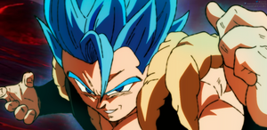Gogeta Blue in Broly Movie by daimaoha5a4