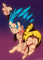 Gogeta ssj blue in Broly Movie by daimaoha5a4