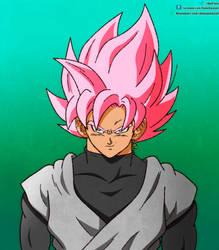 Goku black ssj Rose in Shintani style by daimaoha5a4