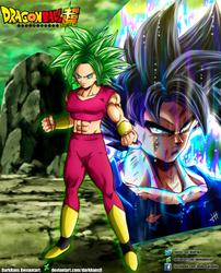 Kefla and Goku Artwork Collab by daimaoha5a4