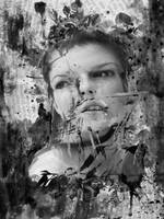 Distortion by photoshop-stock