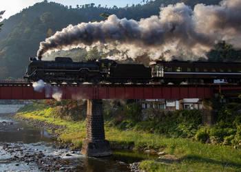 SL Yamaguchi Crosses Tsuwano River (D51200) by DavidKrigbaum
