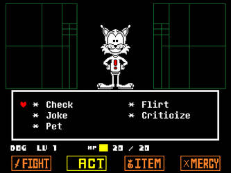 Bubsy in Undertale by PrivateSnowball-X
