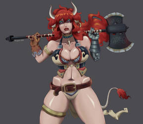 Dungeons and Dragons: Minotaur girl by vf02ss