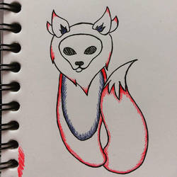 Ink Fox Spirit  by pitadragon