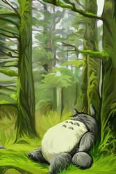 Tonari no Totoro by andrework