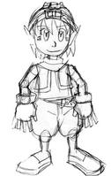 Kikashi Full Body Sketch. by twinkid