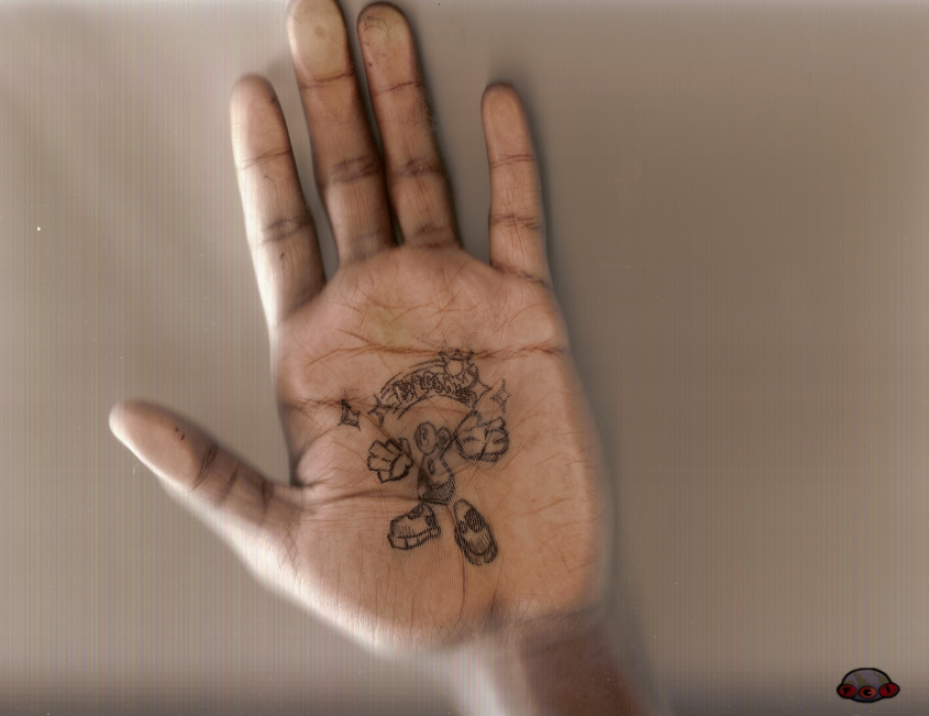 BlobMan On Hand. by twinkid