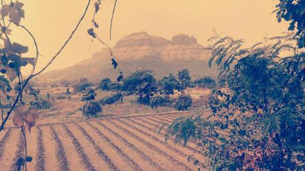 Mountain and field bluish effect by Mischievous-Hyena
