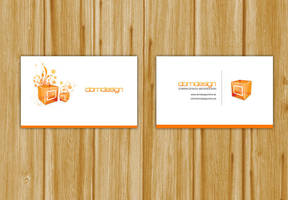 Business Card white by DOMDESIGN