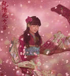 yukina spring sakura kimono cherry blossom by Rijio