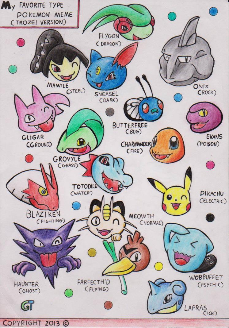 My Favourite Type Pokemon Memetrozei Version By Gts257 Ct On