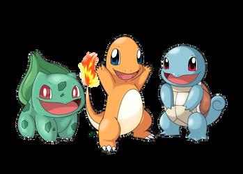 Pokemon Generation 1: Kanto Starter (Remake) by GTS257-CT
