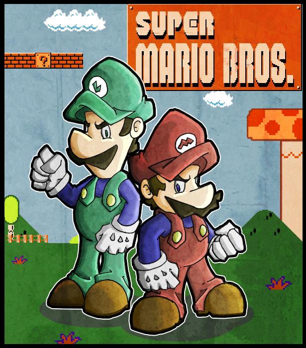 The Mario Twins by LeoCamacho