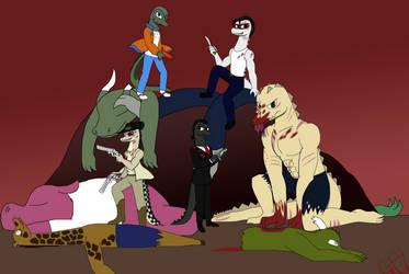Commission #21- Gator Boyz Victory by GrovyleFangirl1997