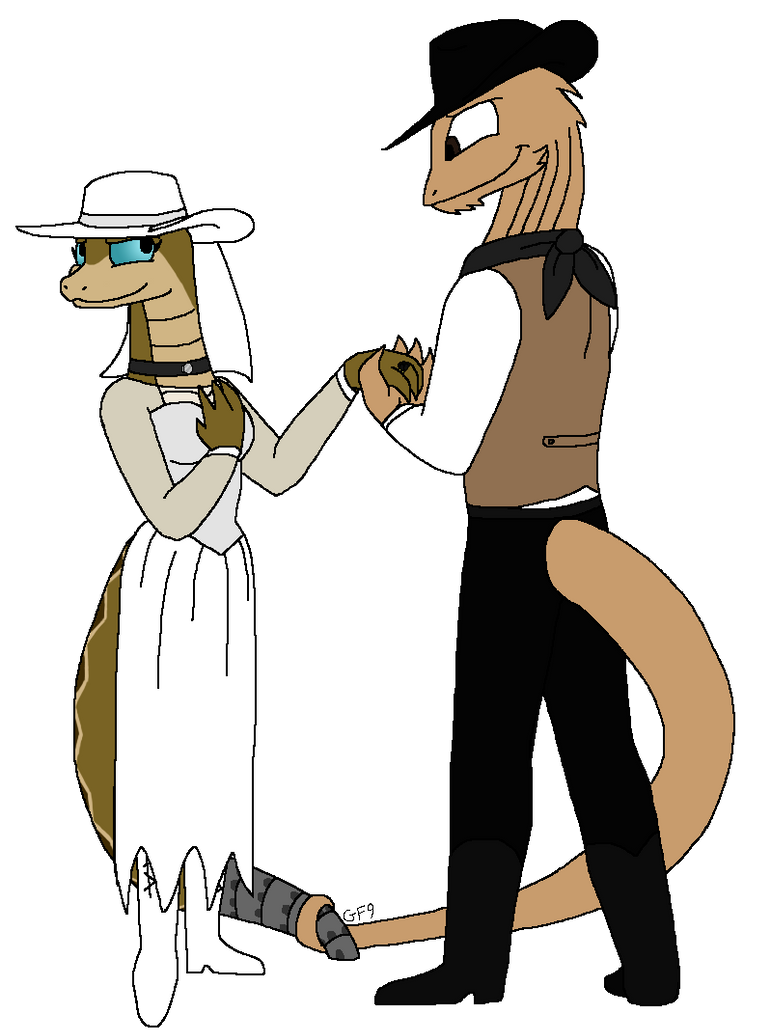 Commission #24- Western Wedding by GrovyleFangirl1997