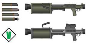 Venter - M10 'War Pig' Recoilless Revolver by Luke-Man