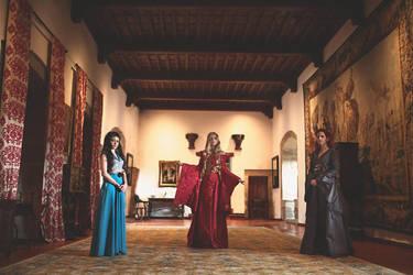 Margaery, Cersei, Sansa by NunnallyLol