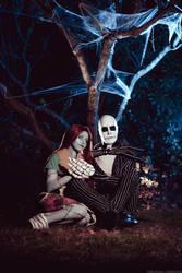 Jack and Sally - Nightmare before Christmas by NunnallyLol