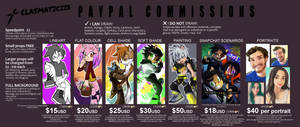 [ANIME, SONIC AND MORE!] COMMISSIONS OPEN by Clasmaticii3