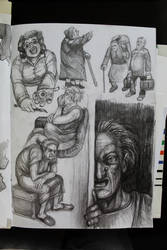Elderly people sketch by T-Nightingale