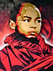 'Boy Monk' on Canvas by jasonserres