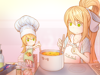 [COMMISSION] Cooking Together by Cyba-Fyba
