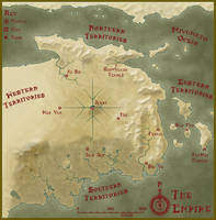 Warriors and Wuxia Sepia Map by ZapDynamic