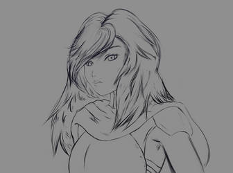 [OC] Lea Portrait WIP by ColorCodedShadow