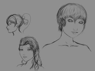 Portrait Sketch Dump (2/1/19) by ColorCodedShadow