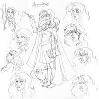 Hermione sketches by Zaerteltier