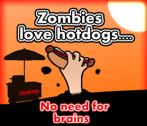 Zombies don't need brains! by AlecaHoward