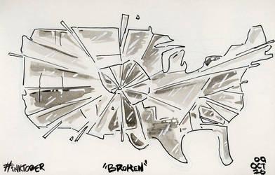 Broken (09 Inktober 16) by RabidSquirrelNinja