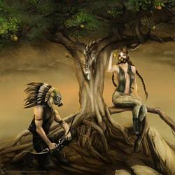 Adam i Ewa by InekJaffar