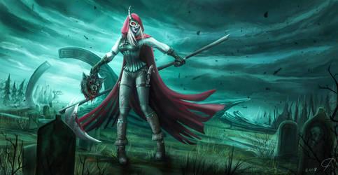 Red Reaper Hood by InekJaffar