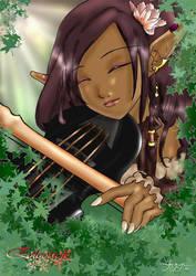 Elfe au violon by AoiShinju
