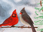 Two Cardinals. by PsychicPsycho